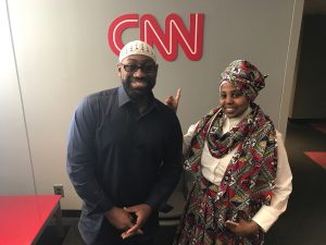 Jenny and Rufus, Rufus and Jenny, Jenny Triplett and Rufus Triplett at CNN Studios, social media influencers, talk show
