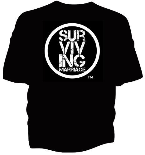 Surviving Marriage Circle Tshirt, Black Tshirt, Marriage Shirt, Jenny and Rufus, Surviving Marriage in the 21st Century, Surviving Marriage