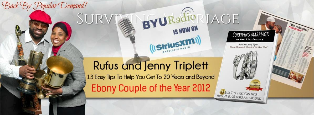 jenny triplett, rufus triplett, kim stilson radio show, byu, siriusxm, surviving marriage, wedded bliss, rufus and jenny