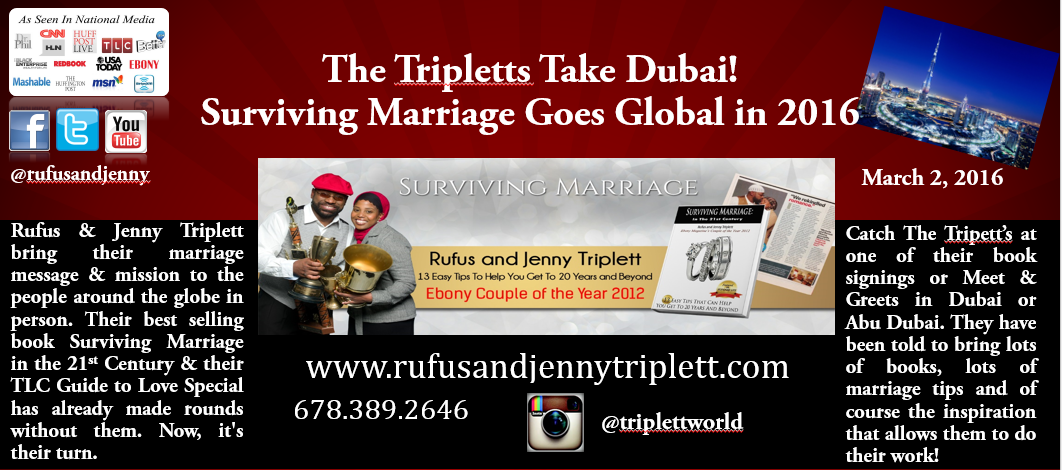 Jenny Triplett, Rufus Triplett, Media Personalities, Motivational Speakers, Business Speakers, Lifestyles with Rufus & Jenny Triplett, Jenny and Rufus, marriage workshops, Dubai, Abu Dubai