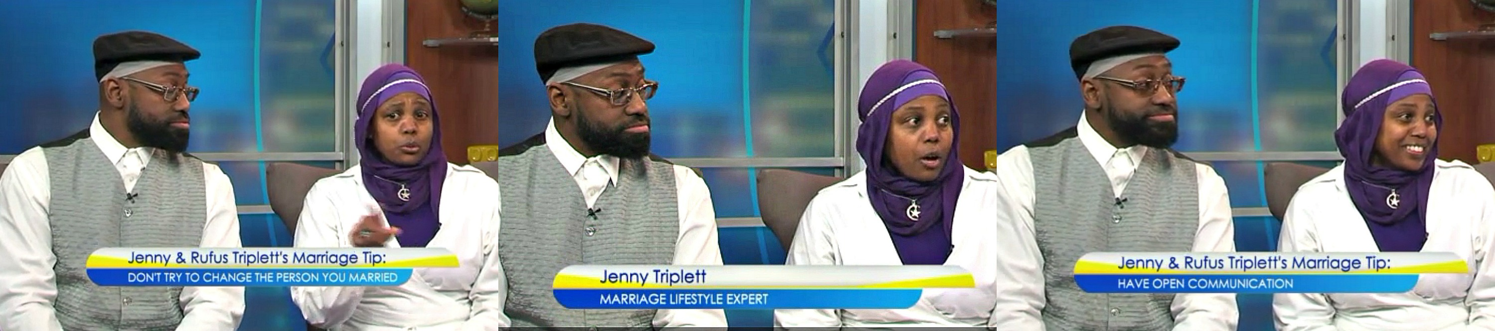 Virginia this Morning, Jenny Triplett, Rufus Triplett, Surviving MArriage, Rufus and Jenny Triplett, Jenny and Rufus Triplett, Ebony Couple of the Year