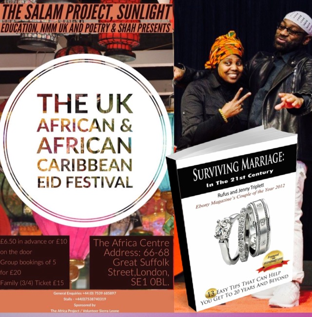 UK African Eid Festival, Eid Festival, rufus and jeny, surviving marriage