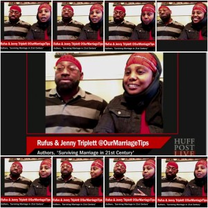 Jenny and Rufus on Huff Post LIVE on Surviving Marriage Tips