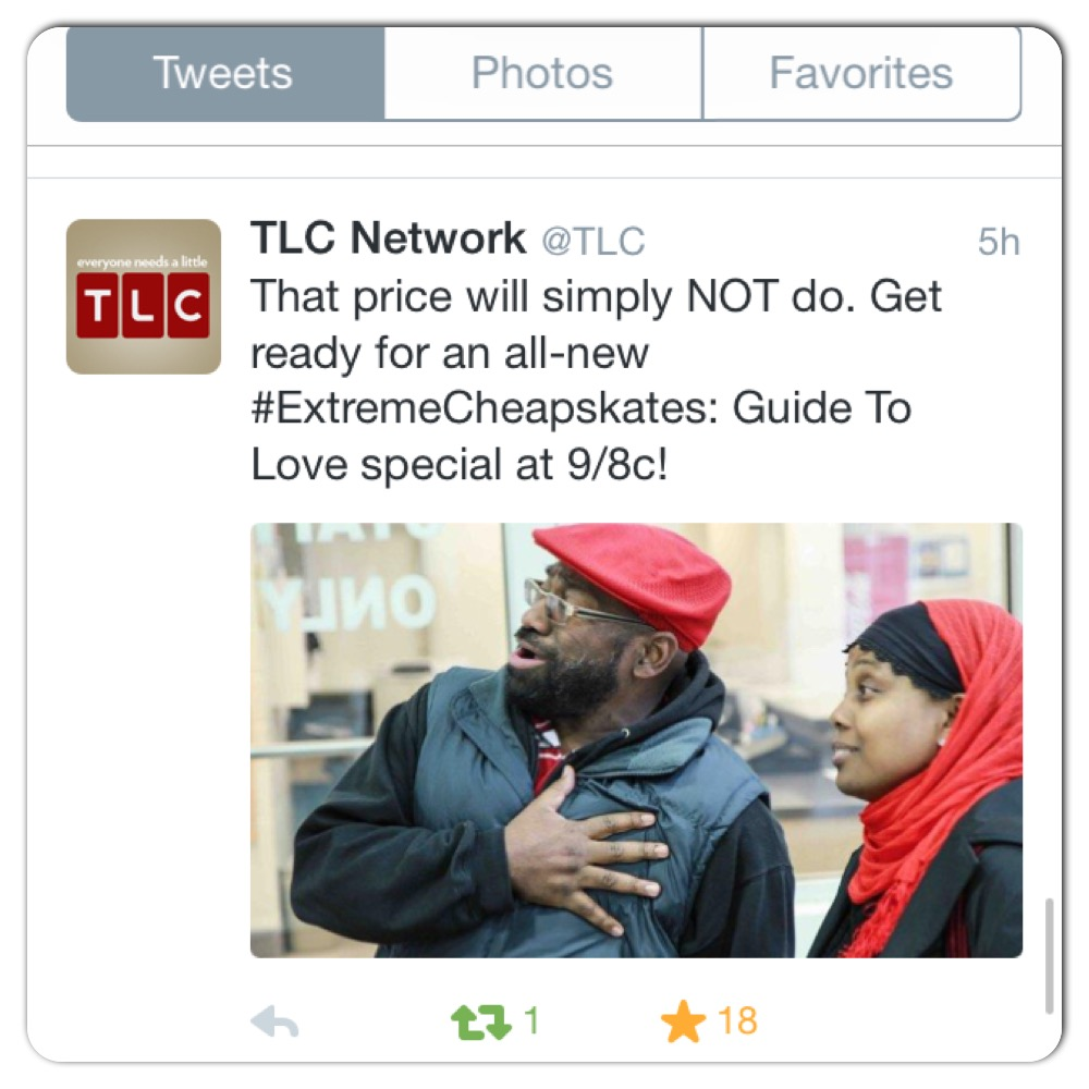 Jenny and Rufus Triplett on TLC Tweet